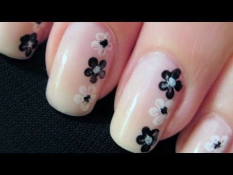 Simple Flower Nail Art   CutePolish   Disney Style
