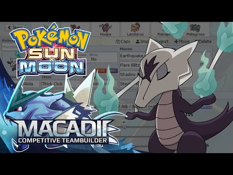 Alolan Marowak Sun and Moon Baton Pass Team Builder! - Pokemon Showdown OU Team Building w. macadii