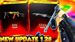 new update 1 28 in bo3 new dlc weapons rpk sten comin