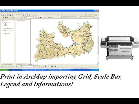 ArcGIS: Plot in ArcMap (Import Scale, Grid, Legend, Scale Bar in layout)