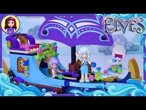 Lego Elves Naida's Epic Adventure Ship Build Review Silly Play - Kids Toy