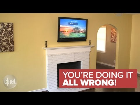 Why a TV should never be mounted over a fireplace (You're Doing It All Wrong!)