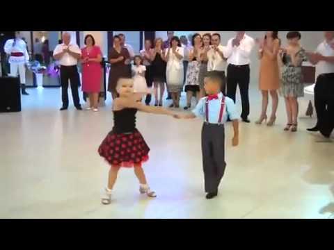 2 little Kids Ballroom dancing