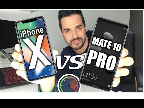 WHO'S FASTER? Huawei Mate 10 Pro VS iPhone X - Speed Test