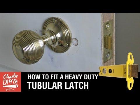 How to Fit a Tubular Latch (Heavy Duty)