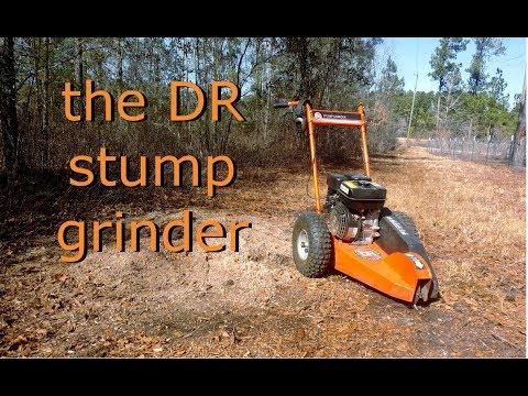 using the DR stump grinder