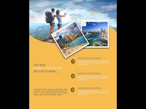 Photoshop Tutorial  Travel Brochure Design