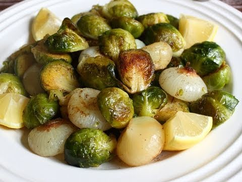 Brussels Sprouts Roasted with Cipollini Onions Recipe - Roasted Brussels Sprouts