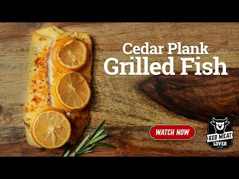 Cedar Plank Grilled Cod Loins - Cooking Fish On Kettle Grill