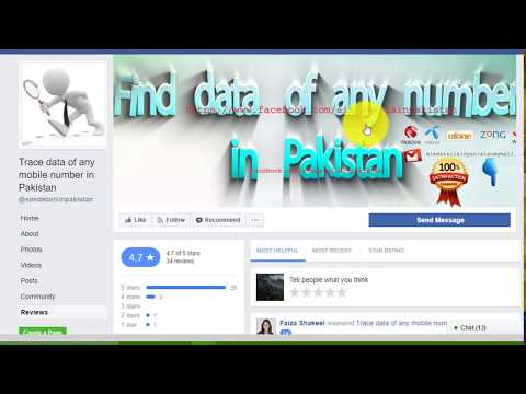 Trace Data of any Mobile Number in Pakistan