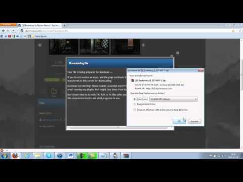 Installation d'un mod Skyrim - QD Inventory