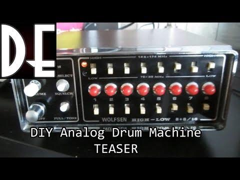 DIY Analog Drum Machine - Drumique - TEASER