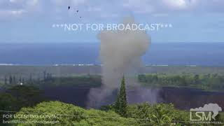 5-23-2018 Hawaii Kilauea eruption highlights, lava river, fountains, waterspouts, explosions  4k