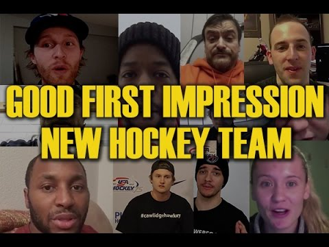 How To Make A Good First Impression On A New Hockey Team