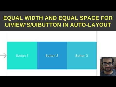 Equal width and equal space for UIView's/UIButton in Auto-layout