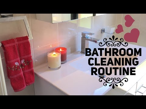 My bathroom cleaning routine 2017
