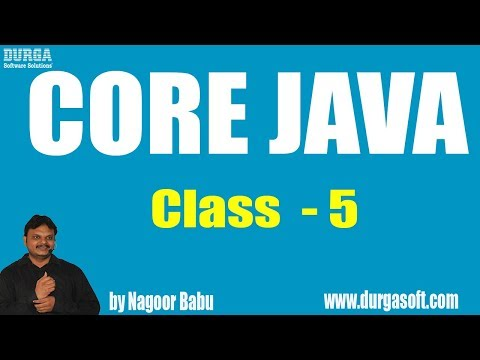 Learn Core Java Tutorial Online Training by Nagoor Babu sir On 24-05-2018