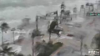 Hurricane Irma Storm Surge comes ashore along A1A on Ft Lauderdale Beach