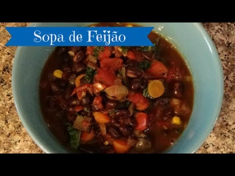 Brazilian Black Bean Soup - Sopa de Feijão