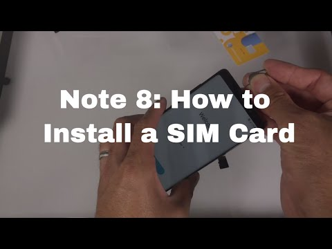 Galaxy Note 8: How to Install SIM Card and Memory Card
