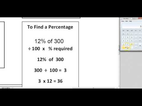 Working out a Percentage