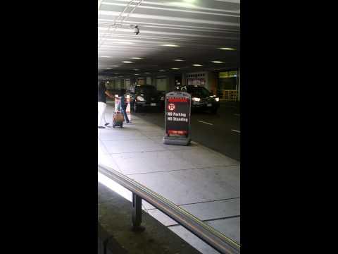 @ Logan Airport bus stop no parking / stopping