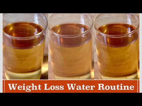 Drinking Water Routine to Lose Weight | How to lose Weight with Water Routine