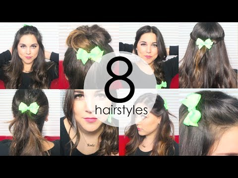 8 Quick & Easy Everyday Hairstyles using HAIR BOWS!
