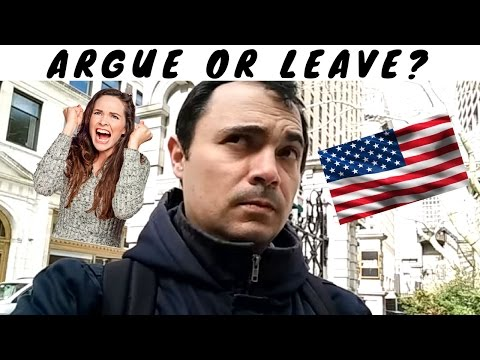 ARGUE WITH MY WIFE OR LEAVE THE COUNTRY? That is the question...