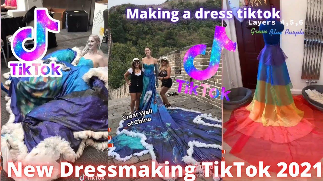 Making a dress videos TikTok Compilation 2021 | Dressmaking TikTok #dressmaking #makingadress #dress