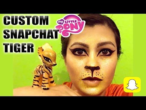 SnapChat Filter MY LITTLE PONY - Custom Gold Tiger MLP Tutorial