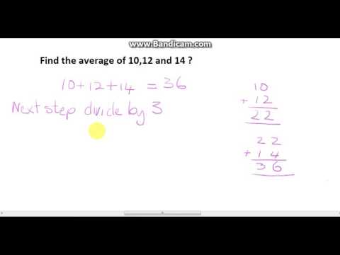 Find the average of three numbers