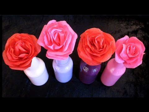 DIY Paper Rose Flower Bouquet | DIY Mother's Day Gift Ideas | Easy Crafts For Kids