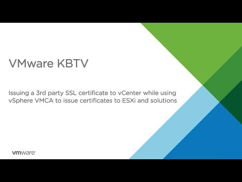 Issuing a 3rd party SSL certificate to vCenter while using vSphere VMCA to issue certs to ESXi