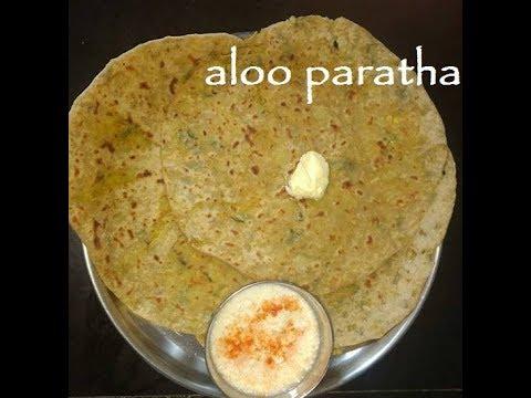 Aloo parata in Kannada/ Parata recipe/ North Indian Dishes