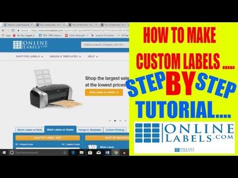 How to make custom label Tutorial Online Labels Label designer Step by Step