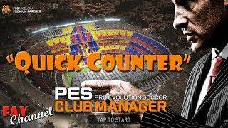 Formasi terbaik quick counter di PES club manager - PakVim