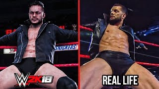 The Comparison Of WWE 2K18 vs Real Life Entrances! #2