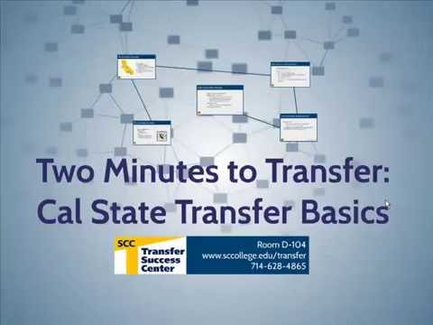 Two Minutes to Transfer: Cal State University Transfer Basics