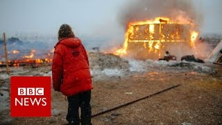 Dakota pipeline protesters leave site after year-long occupation - BBC News