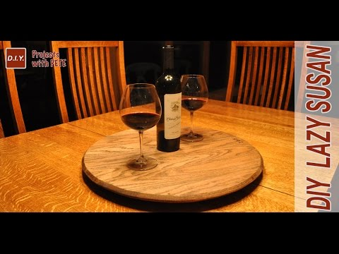 How to Make a Whiskey Barrel Lazy Susan