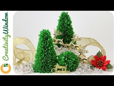 Easy Tabletop Paper Christmas Tree