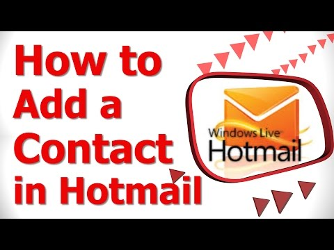 How to Add a Contact in Hotmail