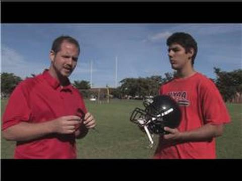 Football Tips : How to Attach a Mouth Guard to a Football Helmet