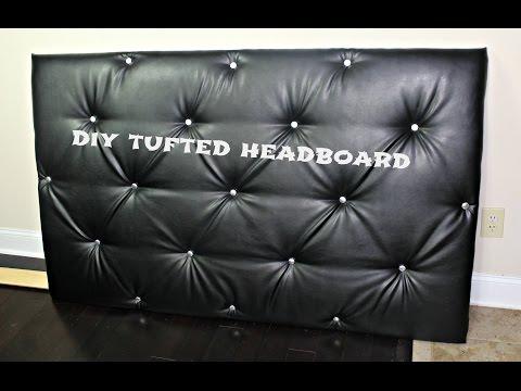 DIY Tufted Headboard- No sewing method