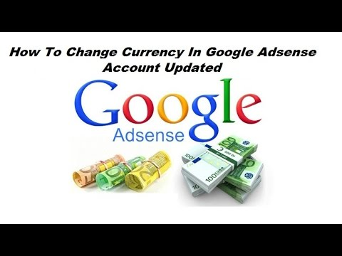 How to change currency in google adsense account updated