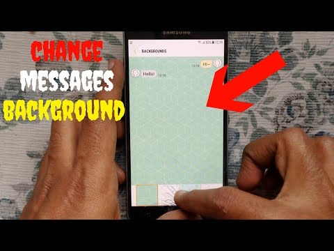 How to Change Text Messages Background on Samsung Galaxy J7 (2016)