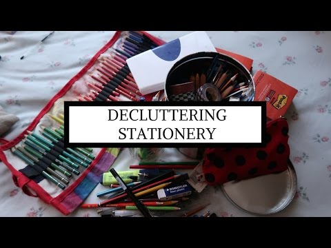 Decluttering Stationery // Minimising What I Don't Need