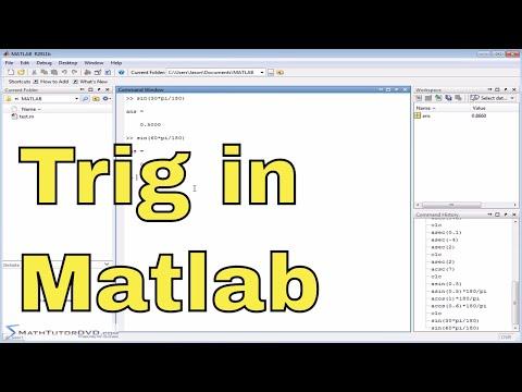Matlab Online Tutorial - 16 - Trigonometric Functions and their Inverses