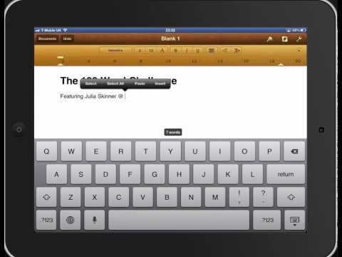 Cut, Copy and Paste on an iPad